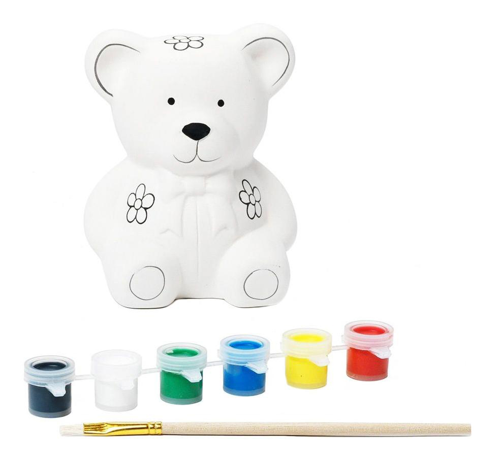 Набор для творчества Bondibon копилка-подарок мишка фото