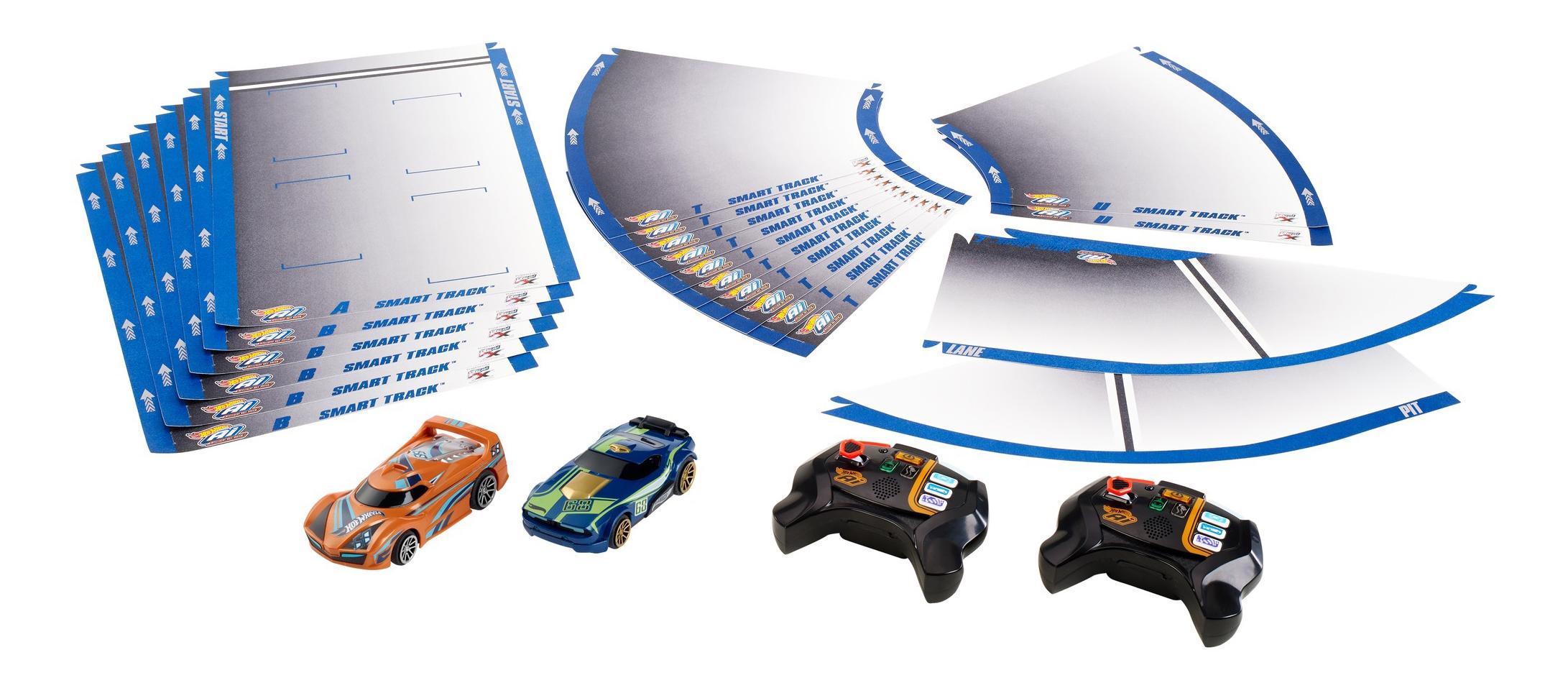 Купить Автотрек Hot Wheels Умная трасса с р.у. машинками FBL83, Детские автотреки