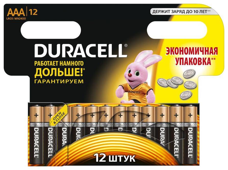 Батарейка Duracell LR03 12BL 12 шт