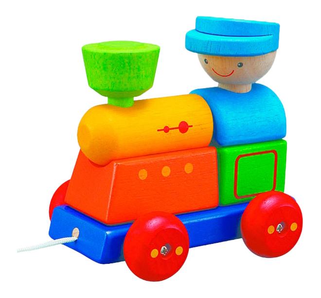 Купить Каталка PlanToys Поезд , Каталки детские