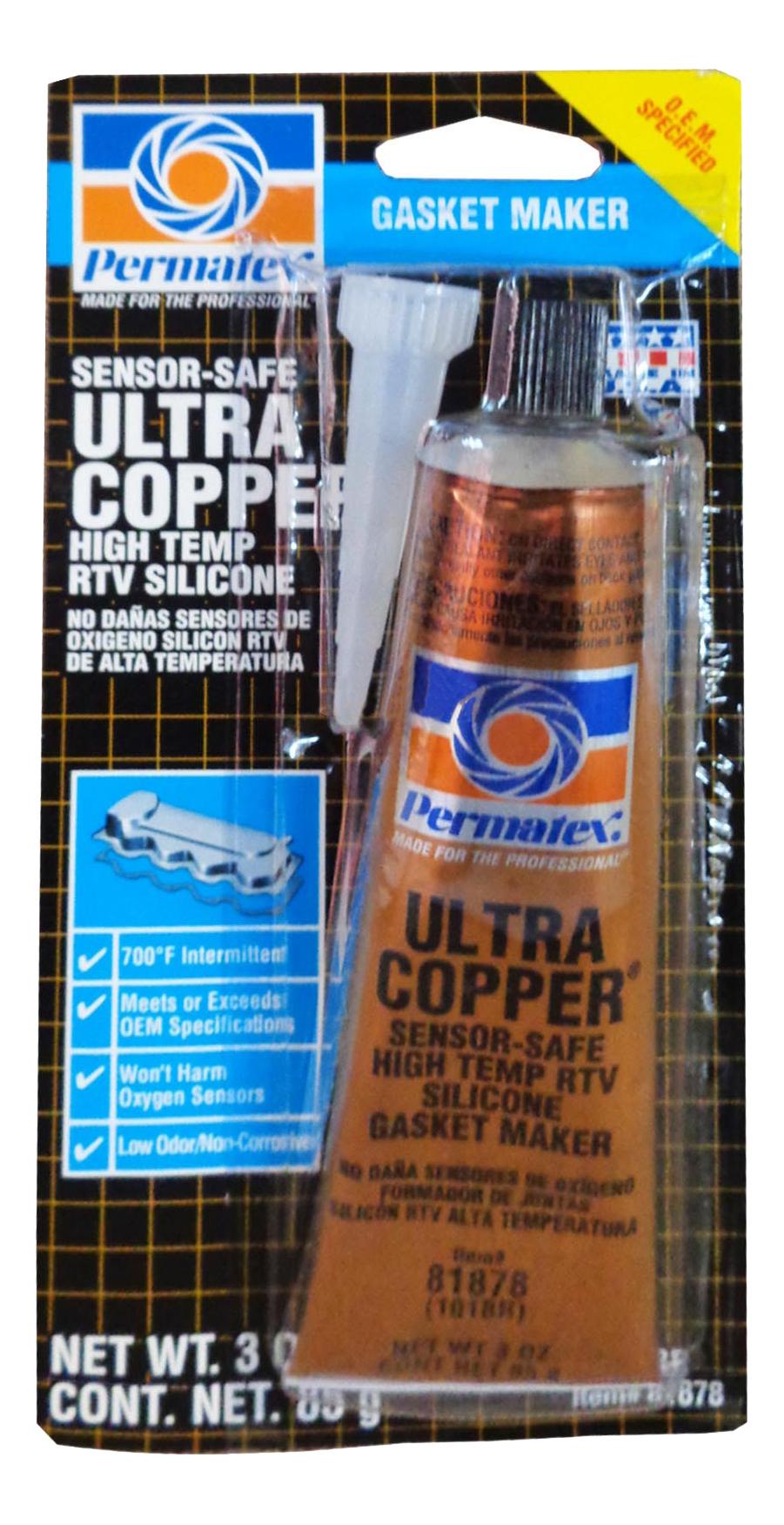 Формирователь прокладок с медью PERMATEX 101BR Ultra Copper RTV (85гр) фото