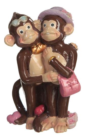 Статуэтка Snowmen Две влюбленные обезьянки фото
