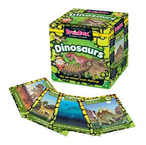 Семейная настольная игра Brain Box Сундучок знаний Мир динозавров.
