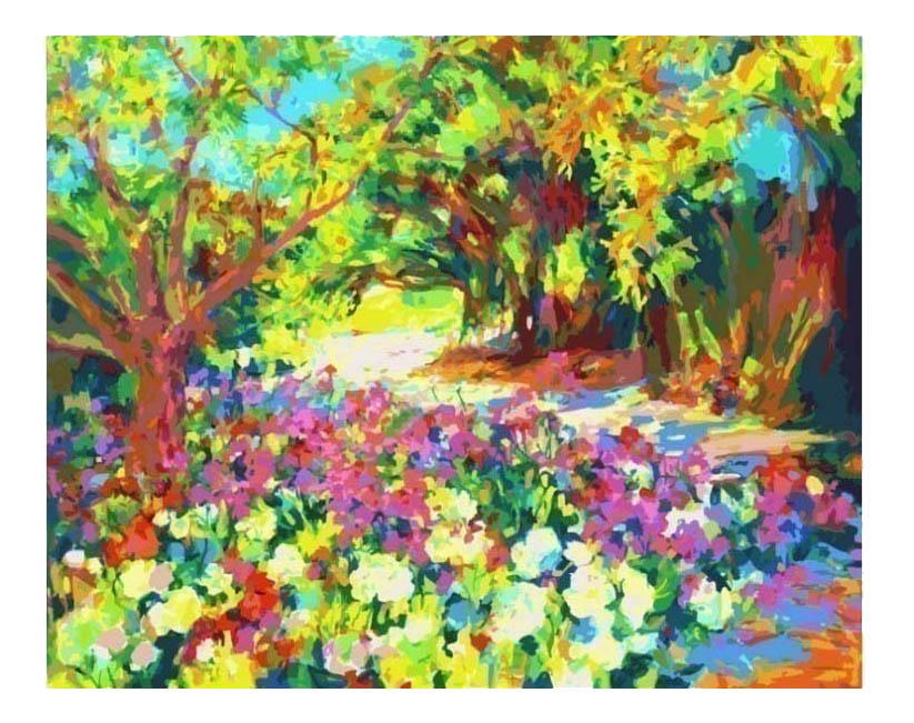 Раскраска по номерам Белоснежка Розы. Южная терраса дворца фото