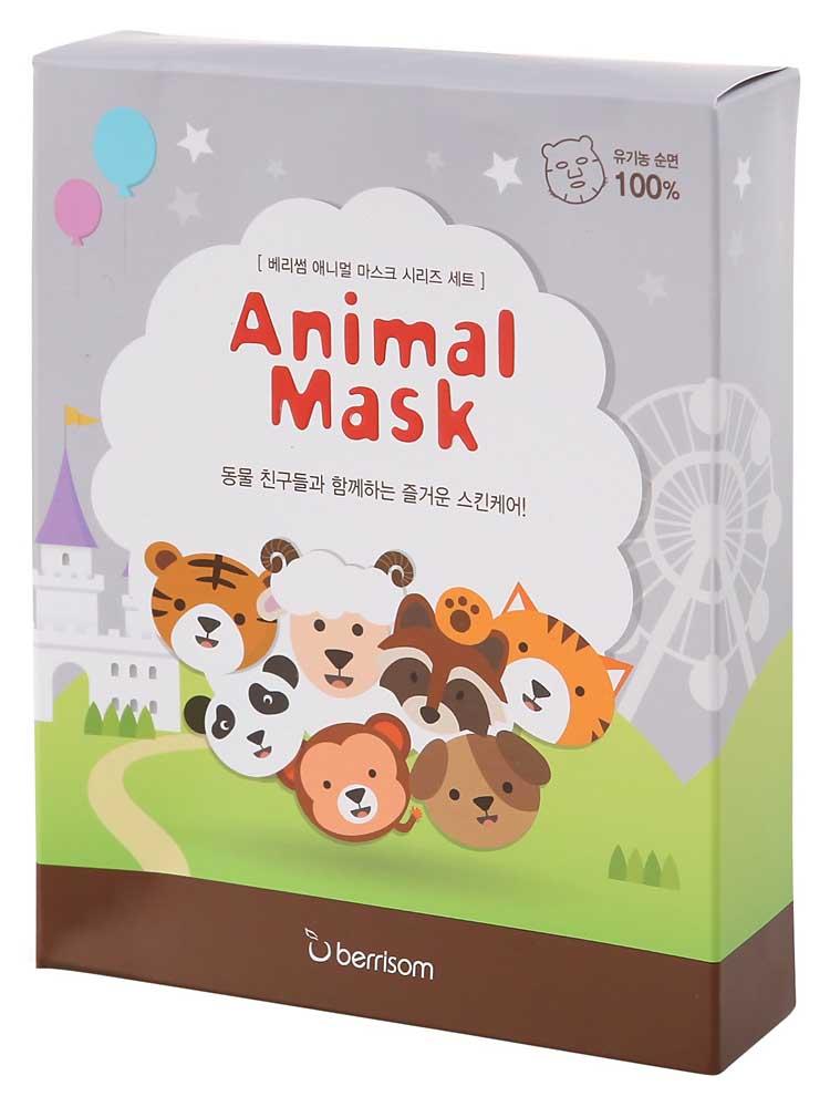 Купить Маска для лица berrisom Animal mask 7 шт, набор масок berrisom Animal mask 7 шт