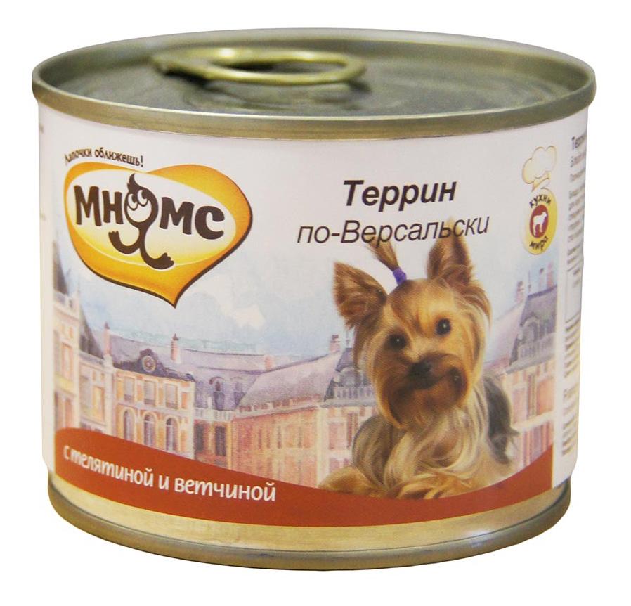 Консервы для собак Мнямс Террин по-Версальски, телятина с ветчиной, 200г