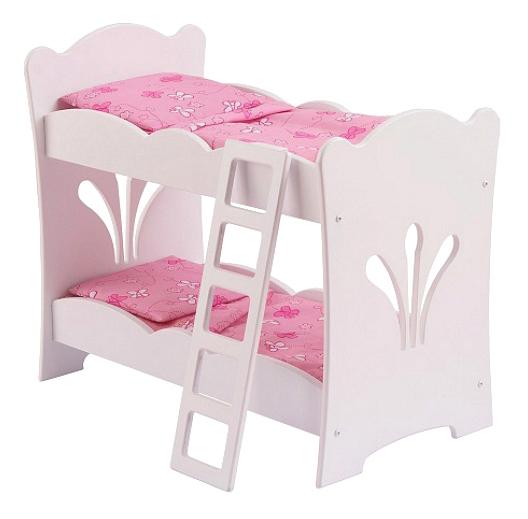 Купить Двуярусная кроватка для кукол, Кроватка для куклы KidKraft Двуярусная Кроватка для кукол,