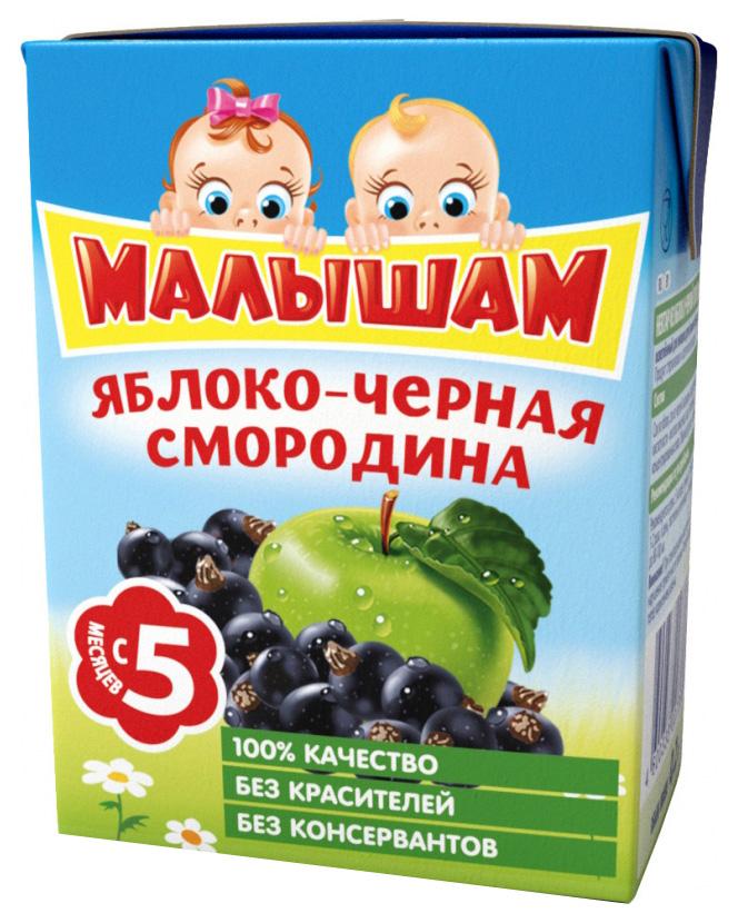 Купить Малышам Яблоко и черная смородина 200 мл, Нектар ФрутоНяня Малышам Яблоко и черная смородина с 5 мес 200 мл, Детские напитки