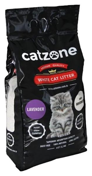 Комкующийся наполнитель для кошек Catzone Lavender бентонитовый,