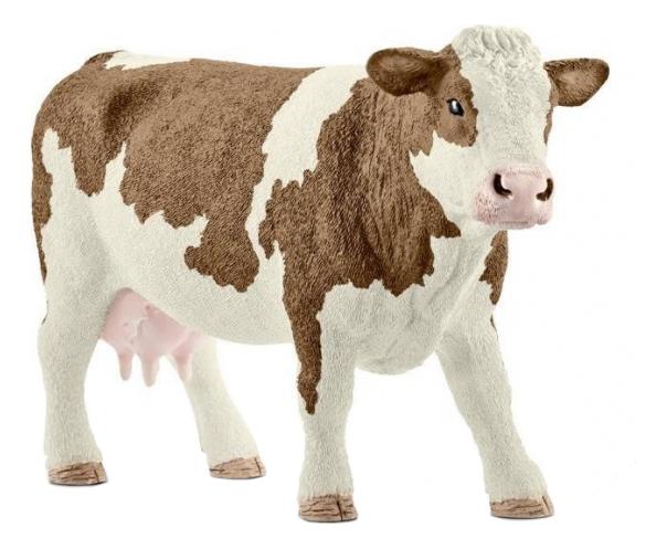 Купить Фигурка Симментальская корова Schleich Farm World 13801, Игровые фигурки