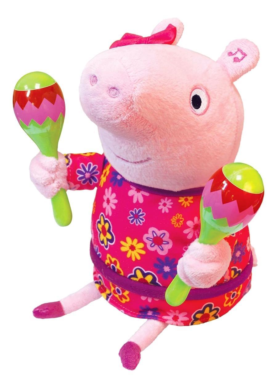Купить Мягкая интерактивная игрушка пеппа с маракасами тм peppa, Мягкая интерактивная игрушка Пеппа с маракасами 30 см Peppa Pig, Интерактивные развивающие игрушки