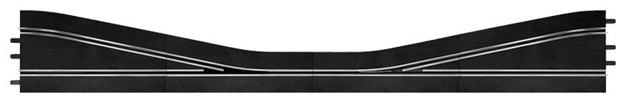 Купить Автотрек Carrera Прямая со сходящимися полосами трассы правая 30351, Машинки-трансформеры