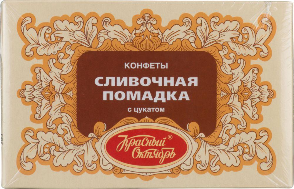 Конфеты Красный Октябрь сливочная помадка с цукатом 250 г фото