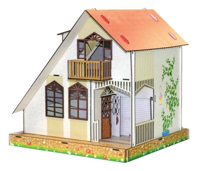 Кукольный дом Полноцвет Дуплекс деревянный фото