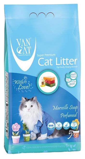 Комкующийся наполнитель для кошек Van Cat бентонитовый,