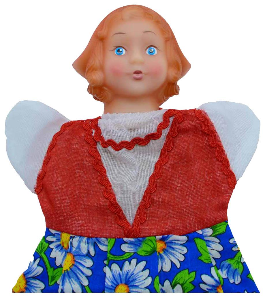 Купить Кукла Русский Стиль Красная шапочка на руку 11029, Русский стиль, Мягкие игрушки персонажи
