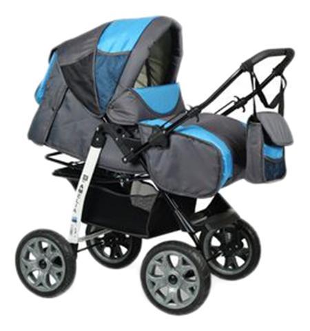 Купить Прогулочная коляска amelia i Alis Аm 07 серый голубой, Коляски книжки