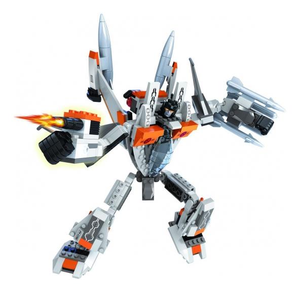 Конструктор 2 в 1 капитан робот самолет 329 деталей Г79553, Конструктор 2-в-1 Капитан Робот-самолет 329 деталей Ausini Г79553, Конструкторы пластмассовые  - купить со скидкой