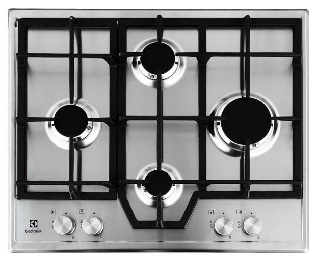 Встраиваемая варочная панель газовая Electrolux GME263LX Silver