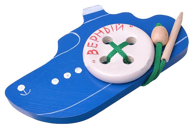 Развивающая игрушка RNToys Шнуровка Кораблик Верный