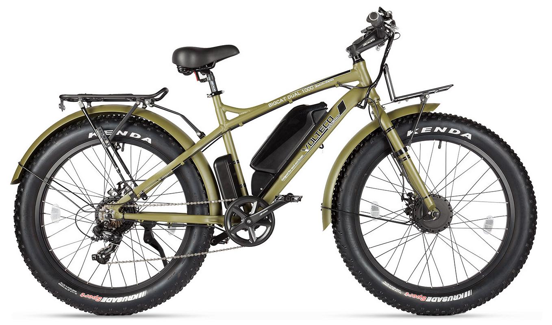 """Электровелосипед Volteco Bigcat Dual 1000 2019 18"""" хаки"""