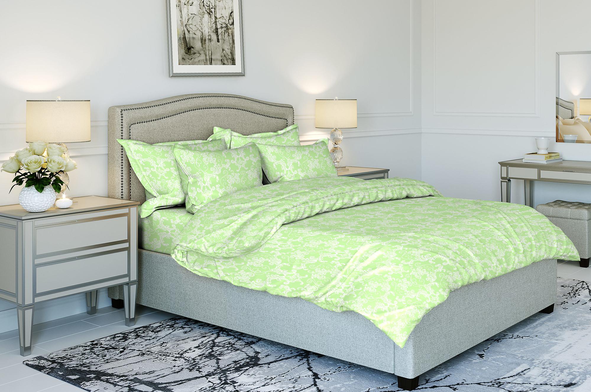 Комплект постельного белья Ночь нежна Ampir Цвет: Авокадо (1,5 спал.)