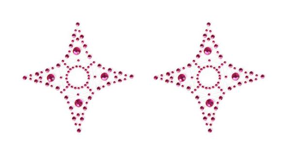 Розовые кристал пэстисы Erotic Fantasy PINK STAR