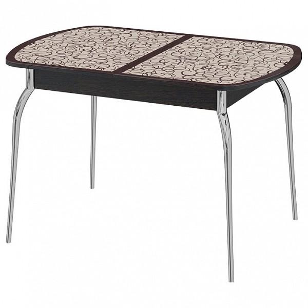 Кухонный стол Трия Стол обеденный Сидней СМ-219.01.01 120-151,5х80х75 см хром фото