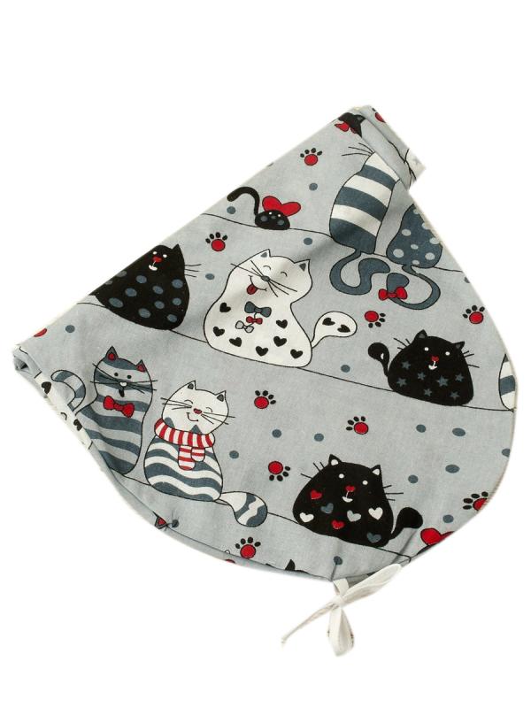 Наволочка к подушке для беременных AmaroBaby 170х25 (КОТИКИ серый)