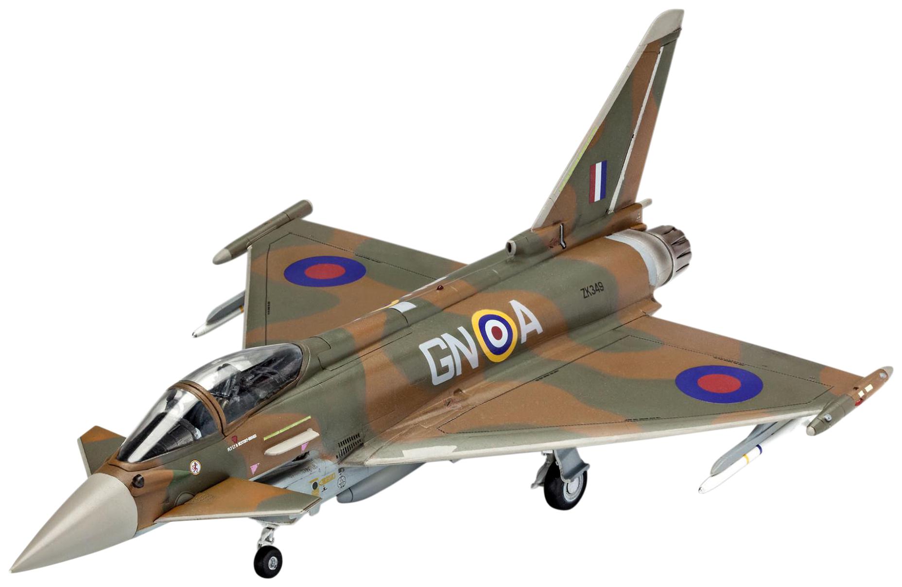 Купить Подарочный набор со сборной моделью 100 лет RAF: Еврофайтер Тайфун , 1:72 Revell,