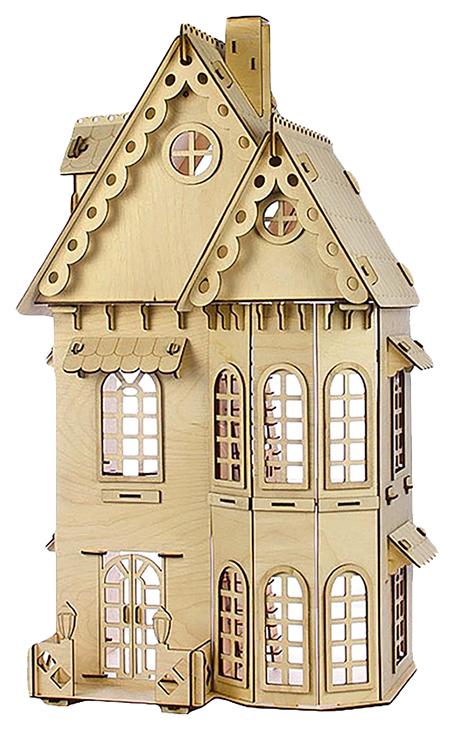 Купить Конструктор Кукольный домик , 2 этажа, фанера — 3 мм Теремок, Деревянные конструкторы