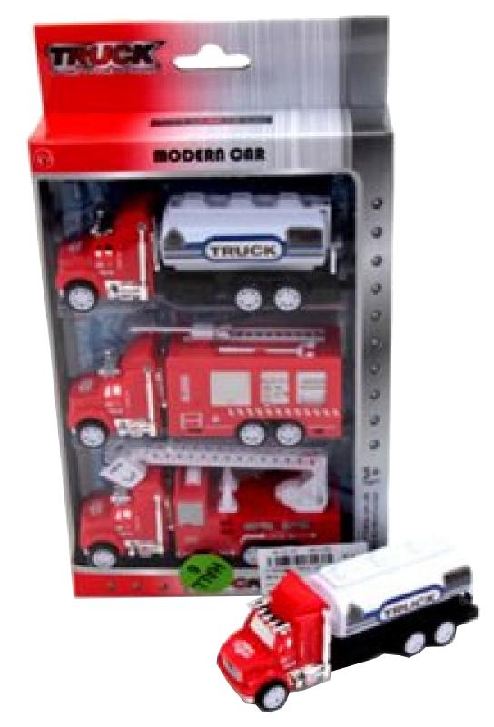 Игр.набор Пожарный грузовые машины инерц. 3шт., коробка