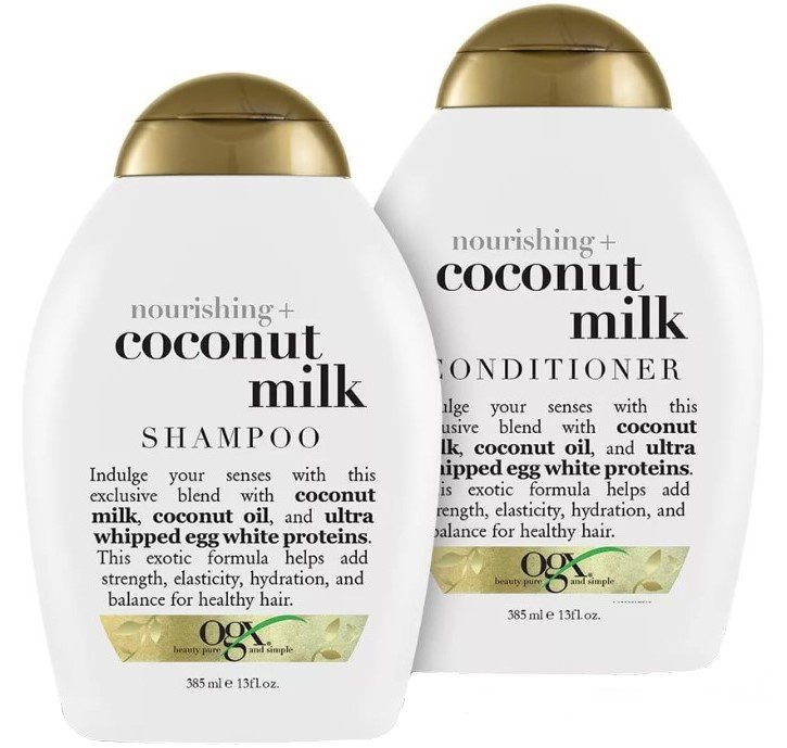 Подарочный набор OGX шампунь с кокосовым молоком 385мл+кондиционер 385мл