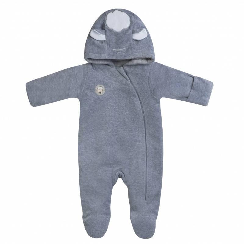 Купить Комбинезон утепленный Diva Kids, цв. серый, 80 р-р, Трикотажные комбинезоны для новорожденных