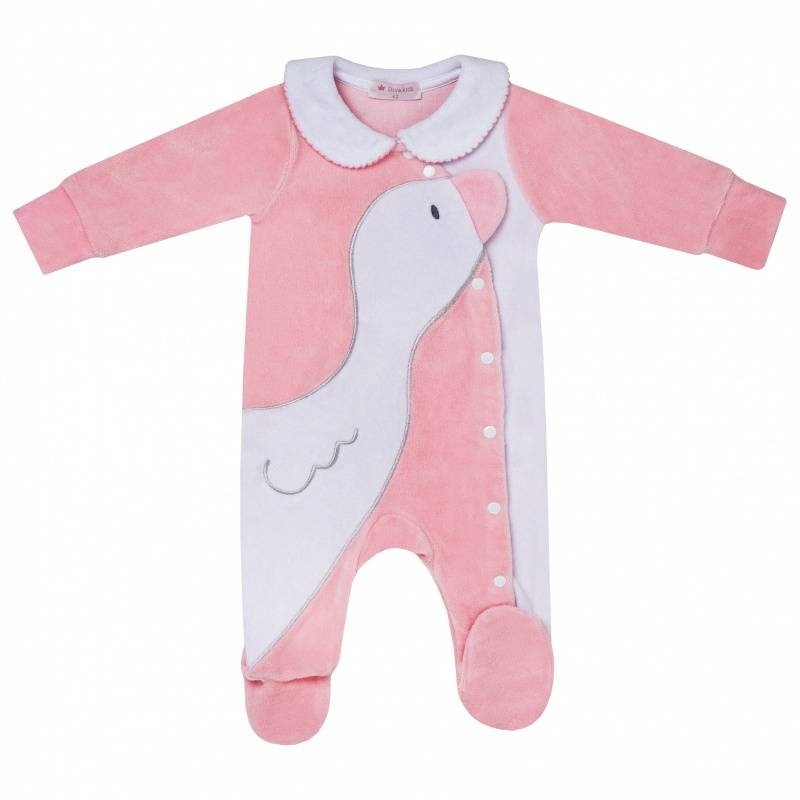 Купить DK-070, Комбинезон Diva Kids, цв. розовый, 74 р-р, Трикотажные комбинезоны для новорожденных