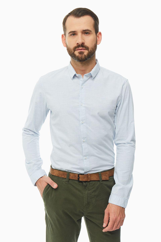 Рубашка мужская TOM TAILOR 1016213-13300 голубая L фото