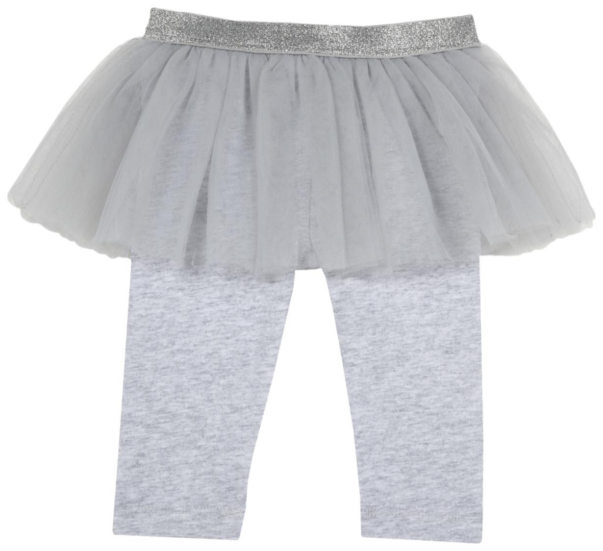 Купить 102856-M, Леггинсы Chicco с юбкой, размер 086, цвет светло-серый, Детские легинсы