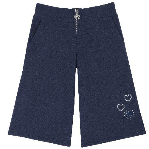 Брюки Chicco Сердечки для девочек р. 122 цв.темно-синий 9008080