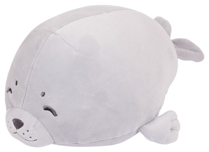 Мягкая игрушка Abtoys Морской котик серый 27 см