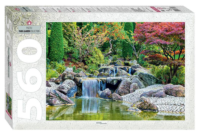 Купить Пазл Step Puzzle 560 деталей Каскадный водопад в японском саду, Пазлы