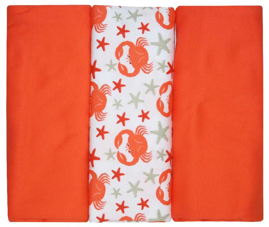 Трикотажная пеленка Котмаркот комплект 3 штуки 90х120 см, красный