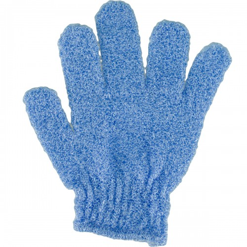 Мочалка - перчатка VT для пилинга голубая