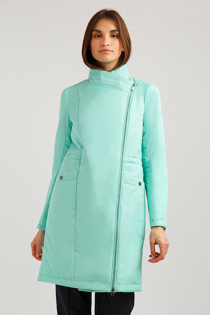 Пальто женское Finn Flare B19-11020 зеленое M фото