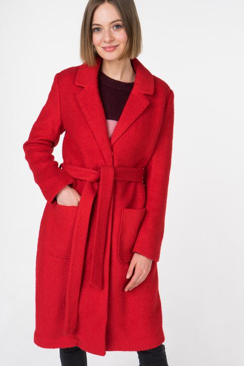 Пальто-халат женское b.young 20804504 красное 40 EU