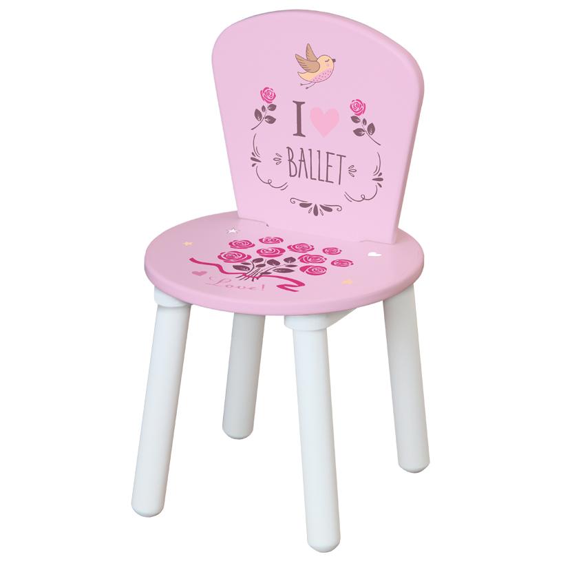 Стул для комплекта детской мебели Polini Kids Fun 185 S, Балерина, розовый