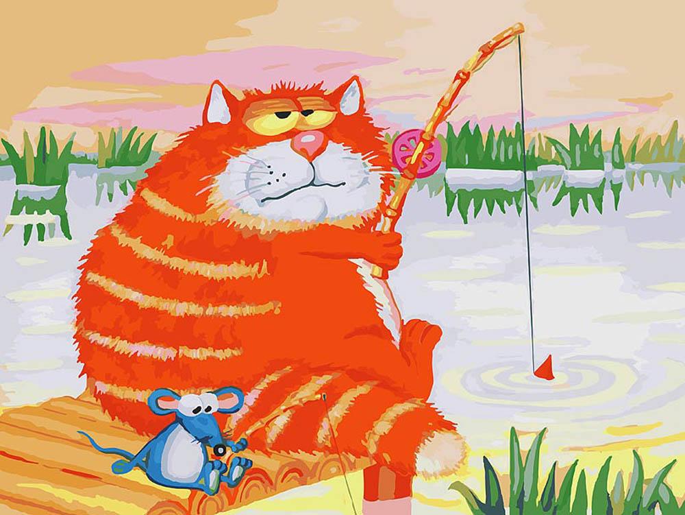 наследника, кот и рыбалка картинки для статья