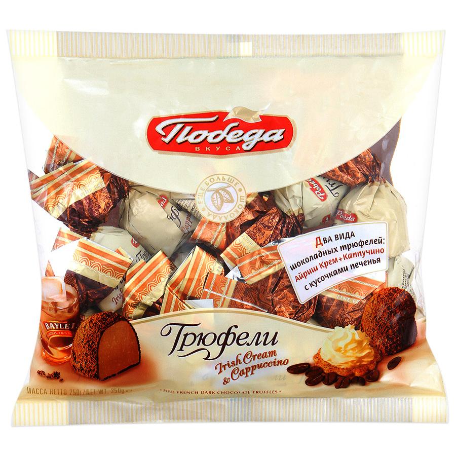 Конфеты Победа айриш и каппучино ассорти трюфели шоколадные 200 г фото