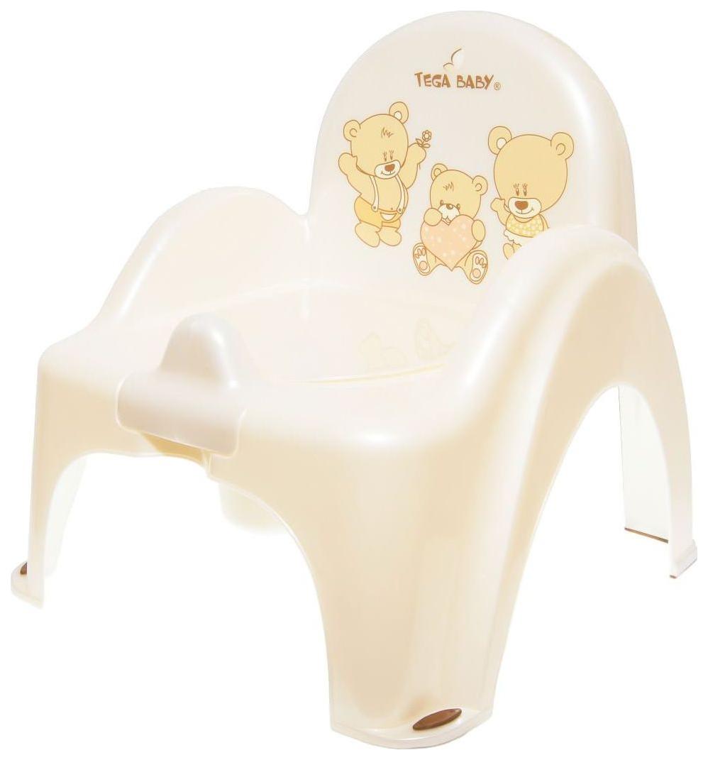 Горшок-кресло Tega Baby Мишка Бежевый