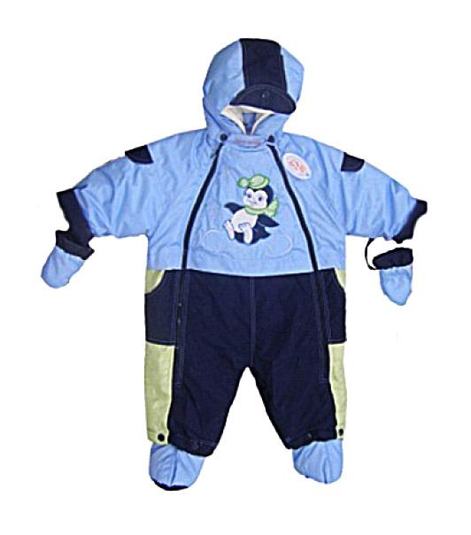 Комбинезон-трансформер Золотой гусь Малыш Голубой с меховой подкладкой