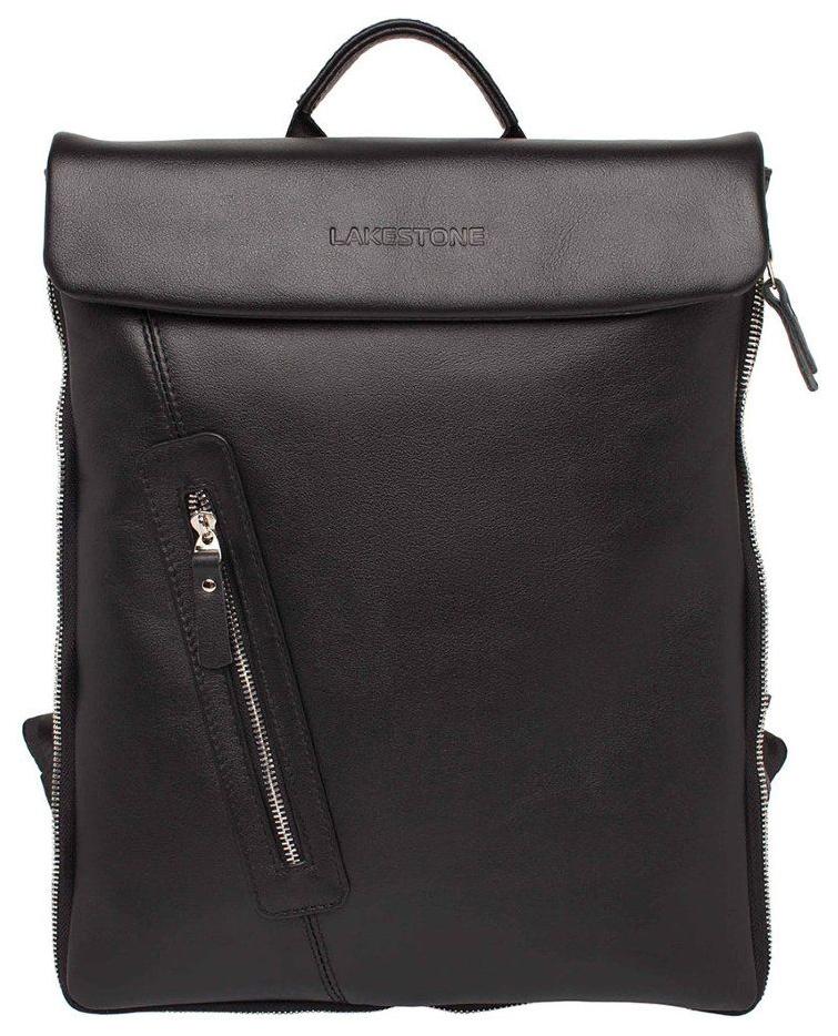 Рюкзак кожаный Lakestone Ramsey черный 5 л фото